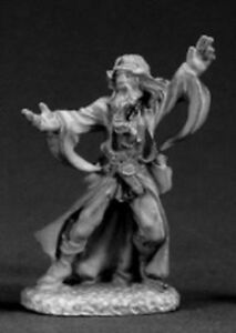 1x WIZARD CASTING - DARK HEAVEN LEGENDS REAPER miniature jdr rpg magicien 03335r