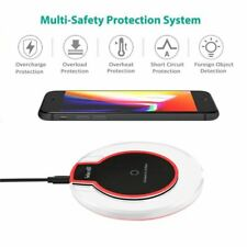 Qi Wireless Fast Charger Dock Charging Pad Receiver for Apple iPhone 11/X/7/Plus