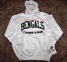 Cincinnati Bengals Hoodie Sweatshirt 2XL(XXL) NWT By Russell Authentic Pro line