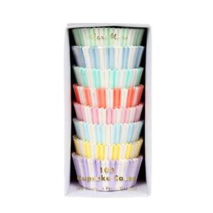 Meri Meri- Cupcake Cases/ Patty Pans. Baking/ Cake Decorating- Pastel 100 Pack