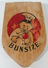 Vintage Rare Red Chef Bunsize Wooden Hamburger Press Shaper Made In California