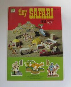 1976 Whitman Tiny Safari 48 Press Out Pieces Activity Book Complete Unpressed