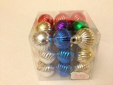 27 Christmas Holiday Plastic Ball Ornaments Red Silver Gold Blue Green Purple