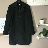 Kenneth Cole New York Mens Wool Coat Size Large Black