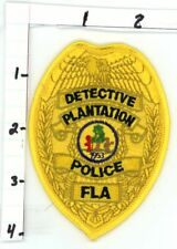 PLANTATION POLICE FLORIDA FL DETECTIVE NICE NEW COLORFUL PATCH SHERIFF