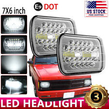For 82-94 Chevy S10 Blazer GMC S15 7X6 Projector Hi/Lo Sealed Beam LED Headlight