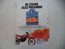advertising Pubblicità 1986 MOTO YAMAHA XT 600 4V 4 VALVES