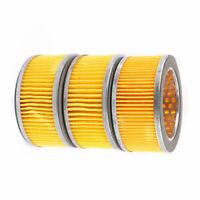 3pcs Cylinder Shape Inside Dia Air Compressor Element Filter Assembly Set Parts