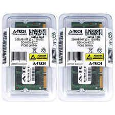 256MB 2 x 128MB SD Laptop Modules SDRam 66 Notebook 144p 144-pin Memory Ram Lot