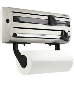 Wall Mounted Kitchen Foil Holder & Cling Film Roll Dispenser Rack Home Leifheit