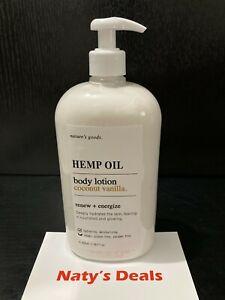 Home & Body Hemp Oil Coconut Vanilla Body Lotion Renew + Energize 28 0z