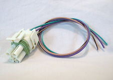 700R4 2004R Transmission Connector Pigtail, 3 Wire Square Green w/ White 700R4-B