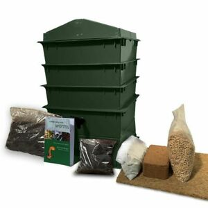 3 Tray Deluxe Tiger Wormery Green, Compost Bin, Composter, 5 Year Warranty