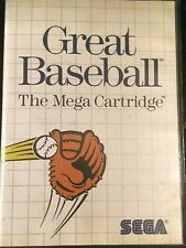 Great baseball the mega cartridge Sega Master system
