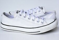 Womens 9 White Leather Converse All Star Low Top Tennis Shoes Men's 7