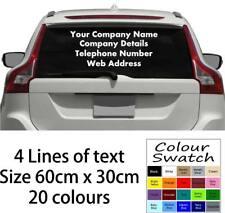 Personalised Business Custom Rear Window Car Van Transfer Decal Vinyl Graphics