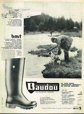 A- Publicité Advertising 1962 Les Bottes Baudou ... chasse