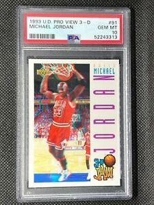 1993-94 Upper Deck Pro View 3D Michael Jordan #91 PSA 10 3D Jam - Bulls