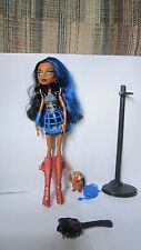 Monster High Doll Robecca Steam 1st Wave Original Outfit Boots Pet Bag