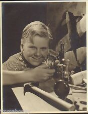 JACKIE COOPER Chemistry Set ORIGINAL 1933 11x14 HURRELL Stamp MGM Portrait PHOTO