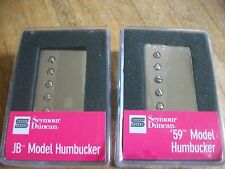 Seymour Duncan SH-4 JB and SH-1 59 Model Neck Humbucker Pickup Set Nickel Covers