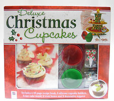 HINKLER DELUXE CHRISTMAS CUPCAKES KIT HOLIDAY CHRISTMAS ACCESSORY