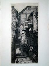 Old town alley Etching