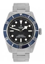 Tudor Heritage Black Bay Blue Disc Rivet Steel Bracelet Automatic Watch 79230B