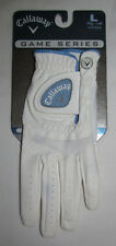 New Callaway Game Series White Blue Left Handed Golf Gloves Womens Size Large