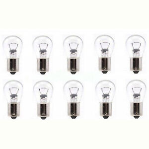 #1156 Stock Park Parking Back Up Tail Light Signal Lamps Bulbs Box Of 10 12V
