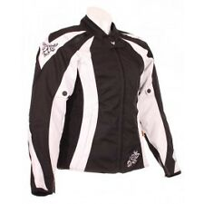 FRANK THOMAS BLACK WHITE LADY RACER LADIES HYPERTECH MOTORCYCLE JACKET SIZE XS