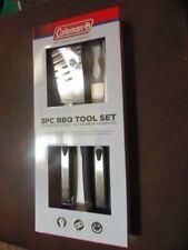 Coleman 3-Piece Bbq Tool Set C04B962 Spatula, Fork, Tongs & Blk Rubber Han(Rm-1)