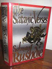 1st Edition SATANIC VERSES Salman Rushdie FIRST PRINTING Fiction CLASSIC Novel