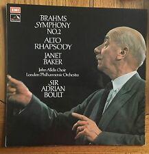 BRAHMS Symphony No. 2, Alto Rhapsody UK LP EMI/HMV Records ASD 2746