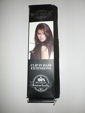 """18""""Clip in Remy Human Hair Extensions Double Weft Thick to Ends Off Black(#1B)"""