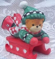 Enesco Lucy Rigg Lucy & Me Figurine 1997 Bear on Sled Christmas Ornament