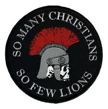 So Many Christians So Few Lions woven Patch Nero Skull  Roman Gladiator