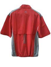 Mens Adidas Golf Pullover Windbreaker Wind Jacket Medium Red Grey