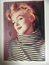 Postcard- Marilyn Monroe 1954 close up in striped polo neck (Bokking)