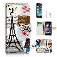 ( For iPhone 6 / 6S ) Wallet Case Cover P2785 Paris Eiffel Tower