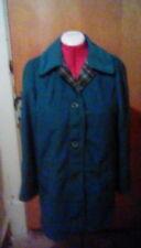 Vintage veloura Blau Mantel Jacke Gr. 12. Tartan Grau Verkleidung