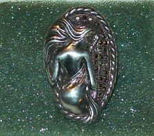 STERLING RING LADY OF PASSION DESIGN MARCISITE STONE ACCENTS
