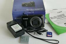 Canon PowerShot SX260 HS digital camera, w/charger, 2 batteries, + instruction