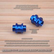 Benchmade 535 BUGOUT 2 Piece Custom Titanium Standoff / Spacer Set - BLUE