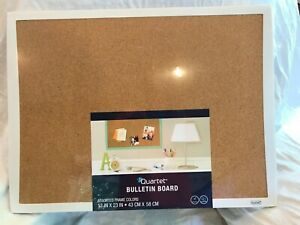 "Quartet Cork Bulletin Board, 17""x23"", Black Frame 33271-C"