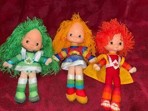 """🌈 Rainbow Brite Hallmark Dolls 12"""" 3 Kids Rainbow / Patty O'Green / Red Butler"""