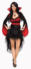 Fun World Red Black Vampire Vampirosa Costume Dress Adult Ml 10-14