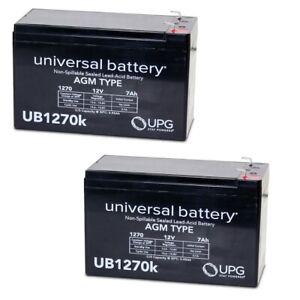 2 PACK UPG UB1270 12V 7AH SLA Battery Surge 24V City Scooter Model # 8801-29