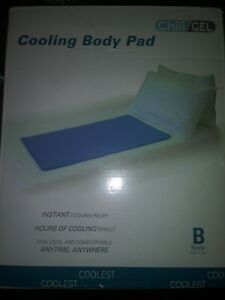 """Chili Gel Cooling Body Pad 23.5"""" x 35.5"""" Instant Cooling Relief NEW"""