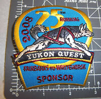 2008 Alaska Yukon Quest 1000 mile Dog Sled Race Embroidered Patch - Sponsor